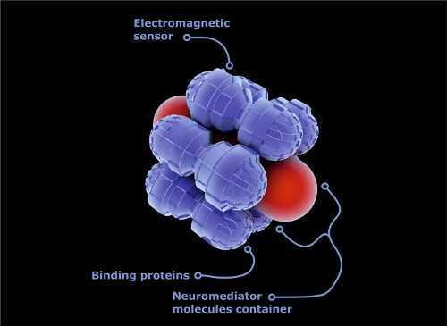 Nanomedical capsula scientific illustration