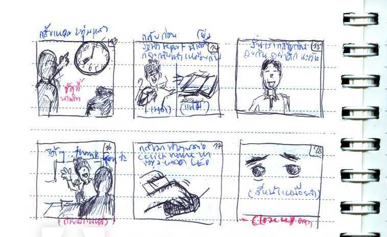 Medical animation storyboard