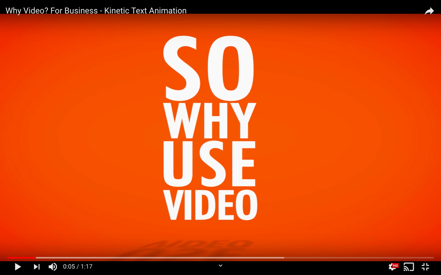 Text motion video sample